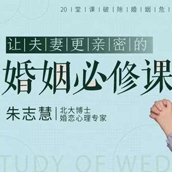 朱志慧《20堂课破除婚姻危机,让夫妻更亲密的婚姻必修课》